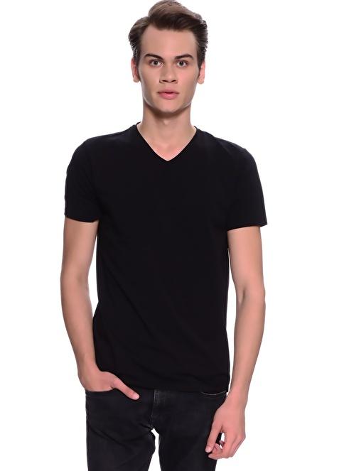 Limon Company V Yaka Tişört Siyah